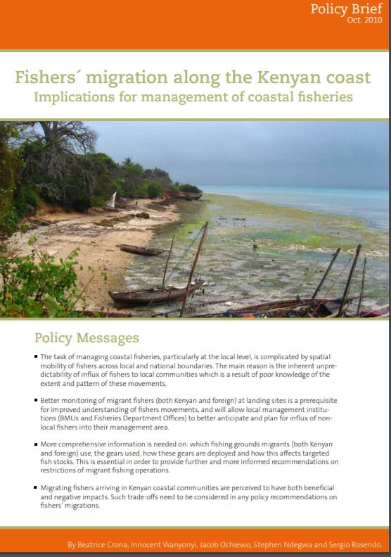 Fishers´ migration along the Kenyan coast Implications for